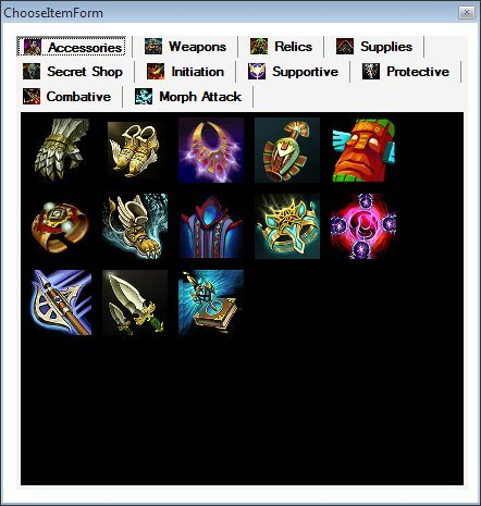 HoN: Hero Builder - Items