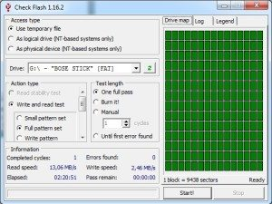 Bose-USB-Stick-Messwerte