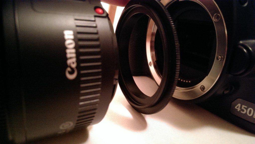 Umkehrring, Umkehradapter für Canon Objektive - Makro