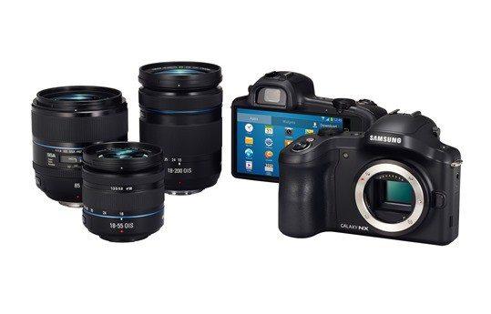 Samsung-GALAXY-NX-mit-Objektiven
