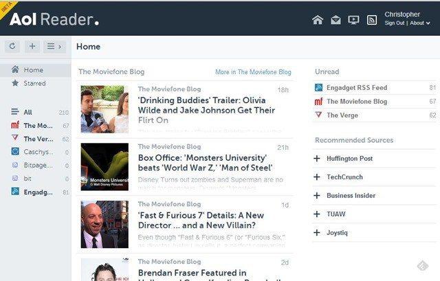 AOL startet offene Betaphase für Feedreader