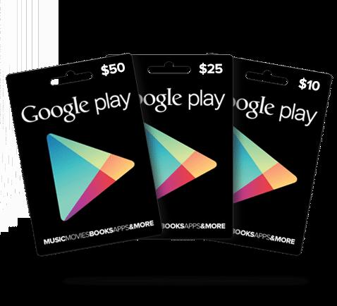 Geschenkkarten für Google Play sehr bald im Einzelhandel