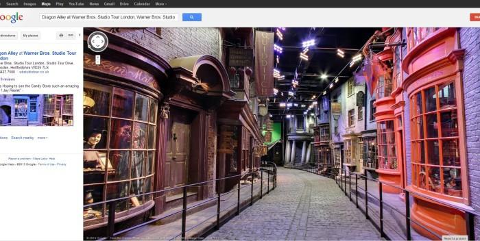 Screenshot Google Streetview Winkelgasse Harry Potter