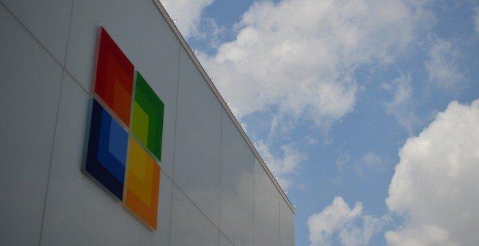Microsoft Gebäude und Logo