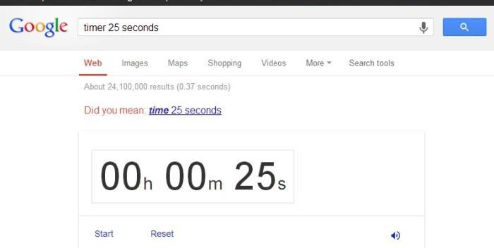 Google Timer Funktion