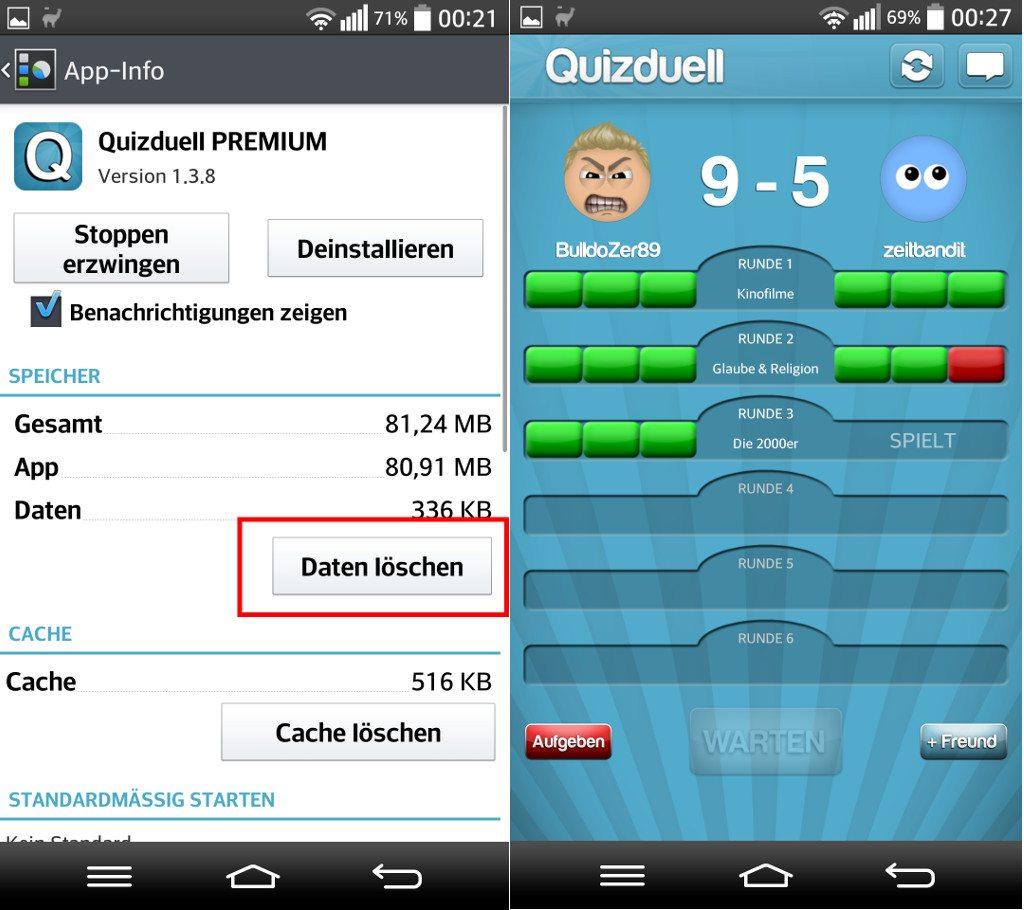 Quizduell Cheat App