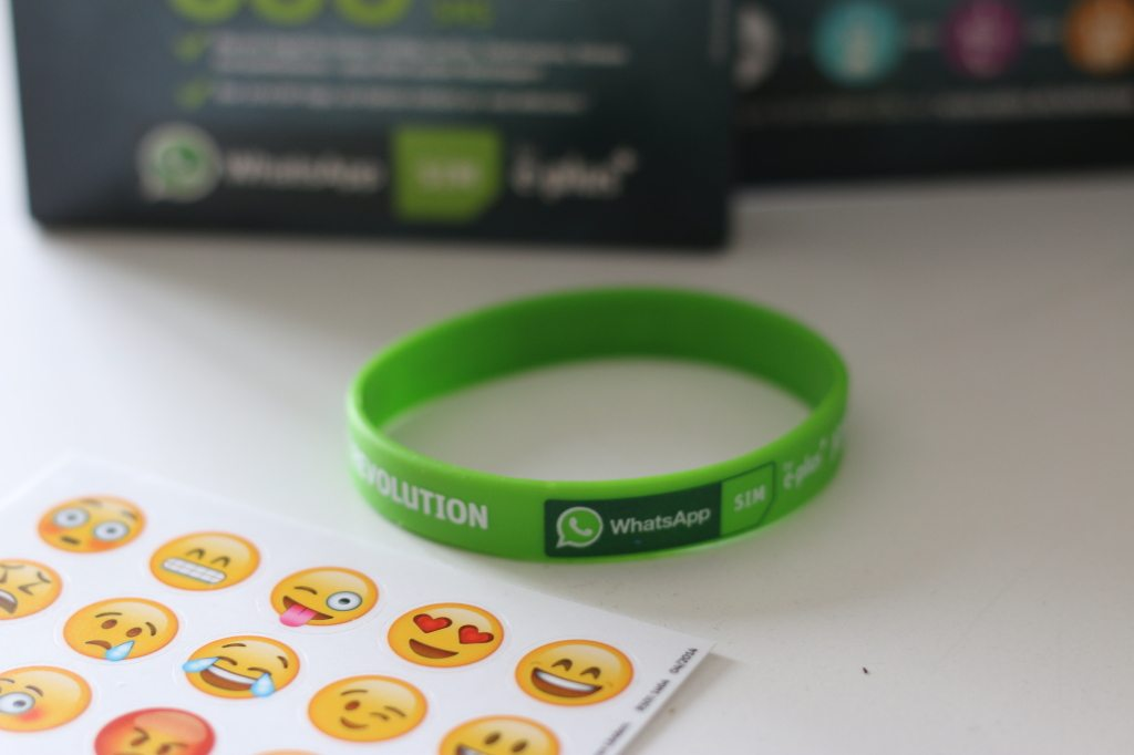 WhatsApp-Starterpaket-Aufkleber-Armband