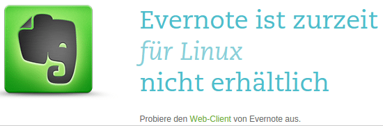 Evernote ist leider für Linux nicht erhältlich.
