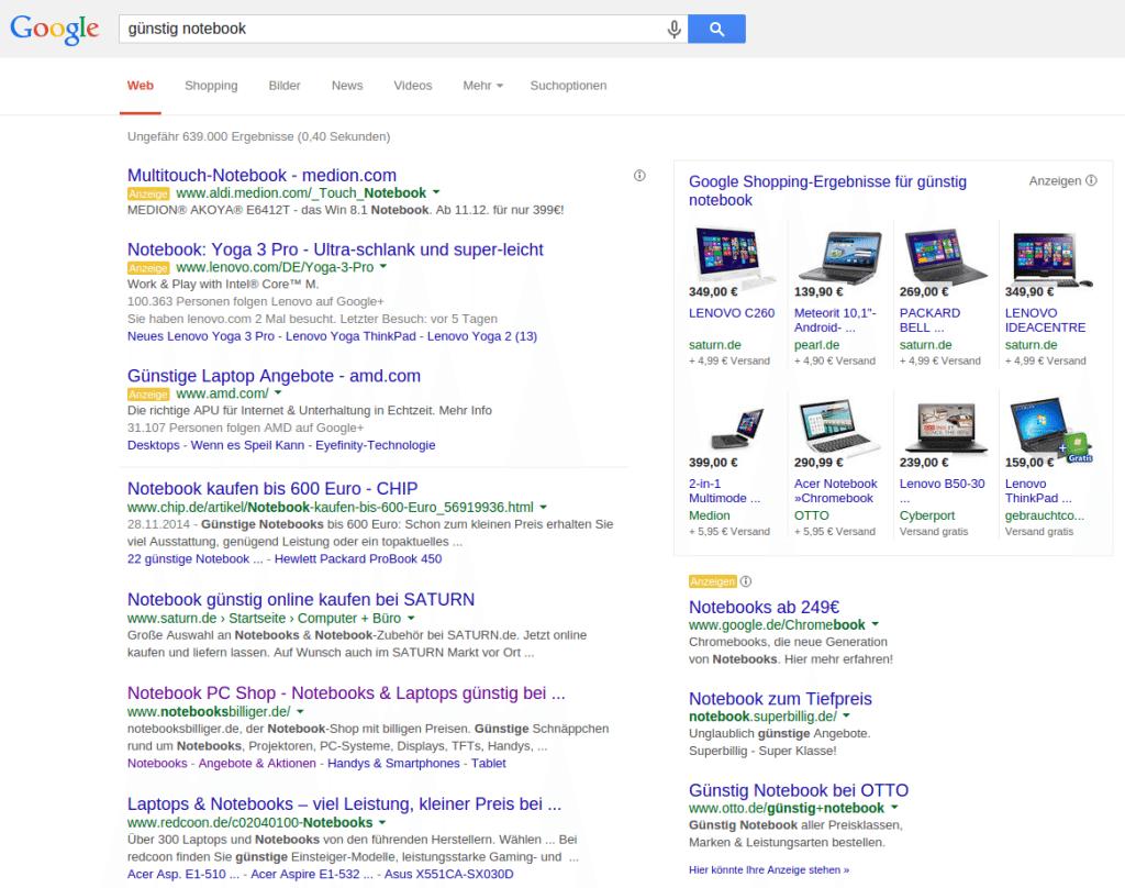 google-suchergebnisse-werbung