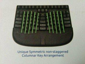 Ungewöhnliches Layout des Truly Ergonomic Keyboards