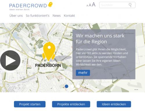 Paderborner Crowdfunding Portal Padercrowd.de geht online