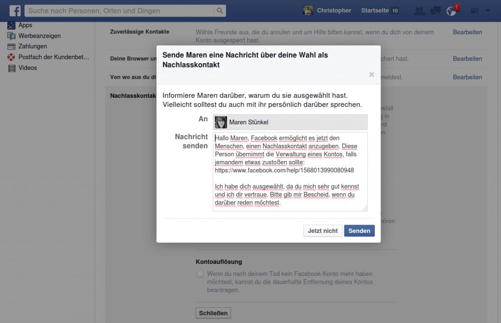 facebook-nachlasskontakt