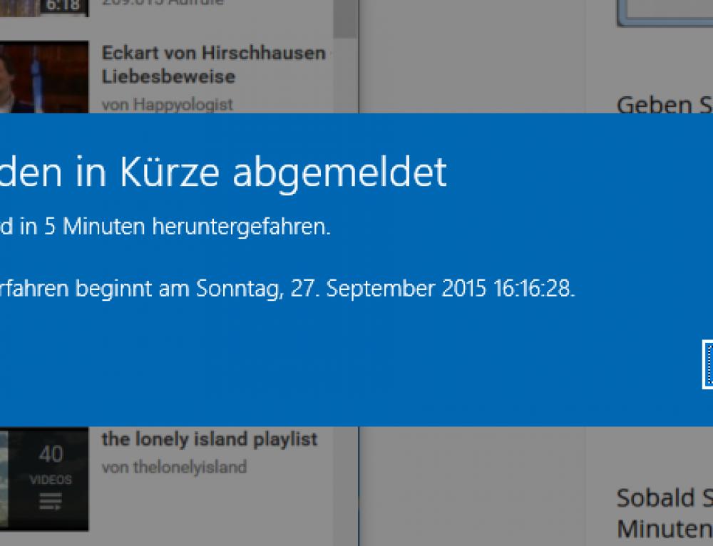 Windows 10, 8 und 7 zeitgesteuert herunterfahren