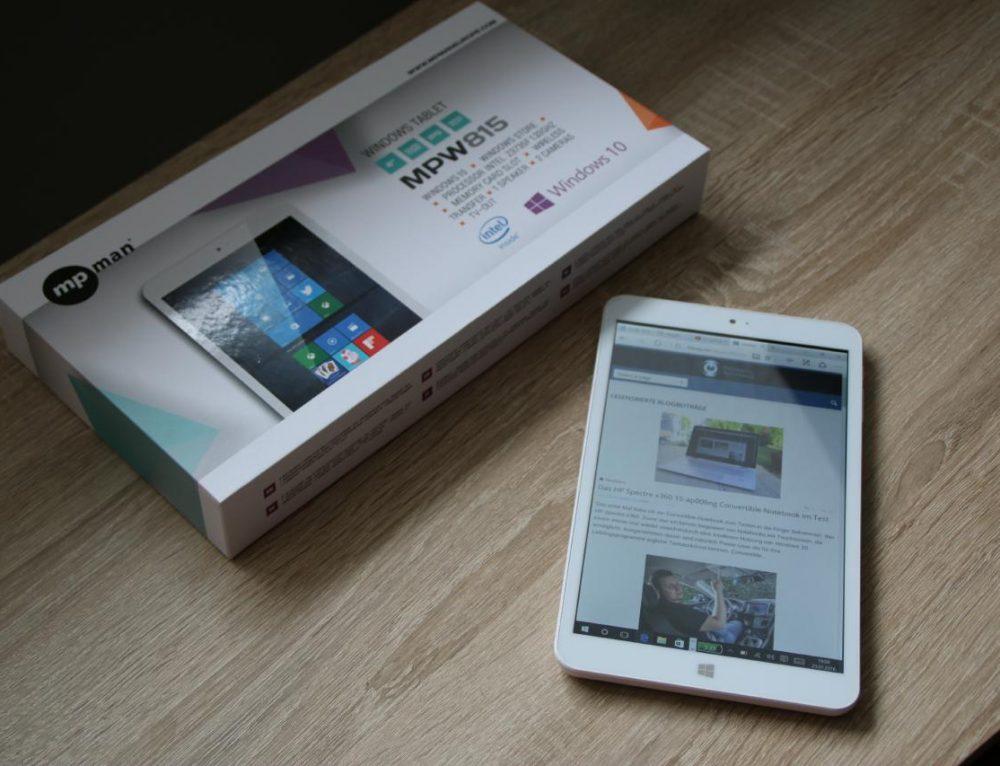 "Im Test: ""Windows 10""-Tablet MP Man MPW815"