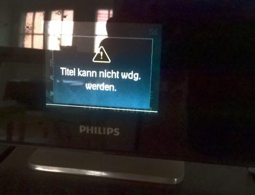 Das ärgert mich: Napster / Aldi Life Musik funktioniert nicht mehr mit dem Philips Streamium NP2500