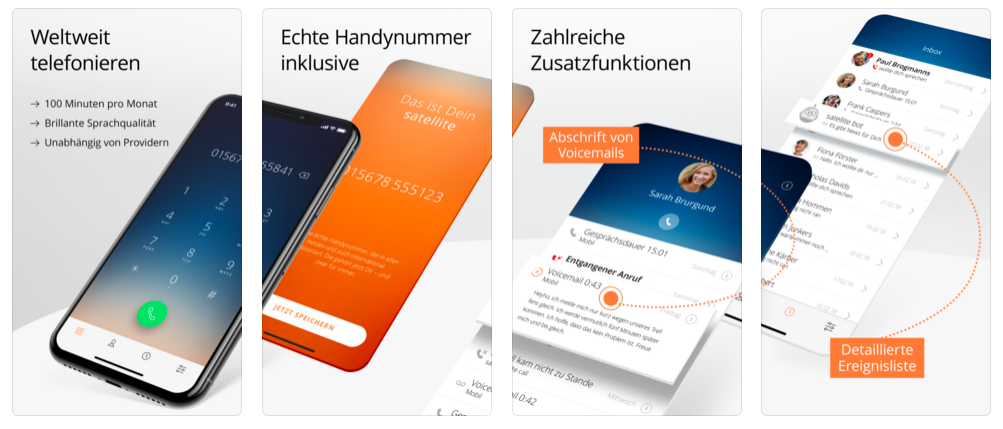 Sipgate Satellite offers free calls and a german Mobile Phone Number