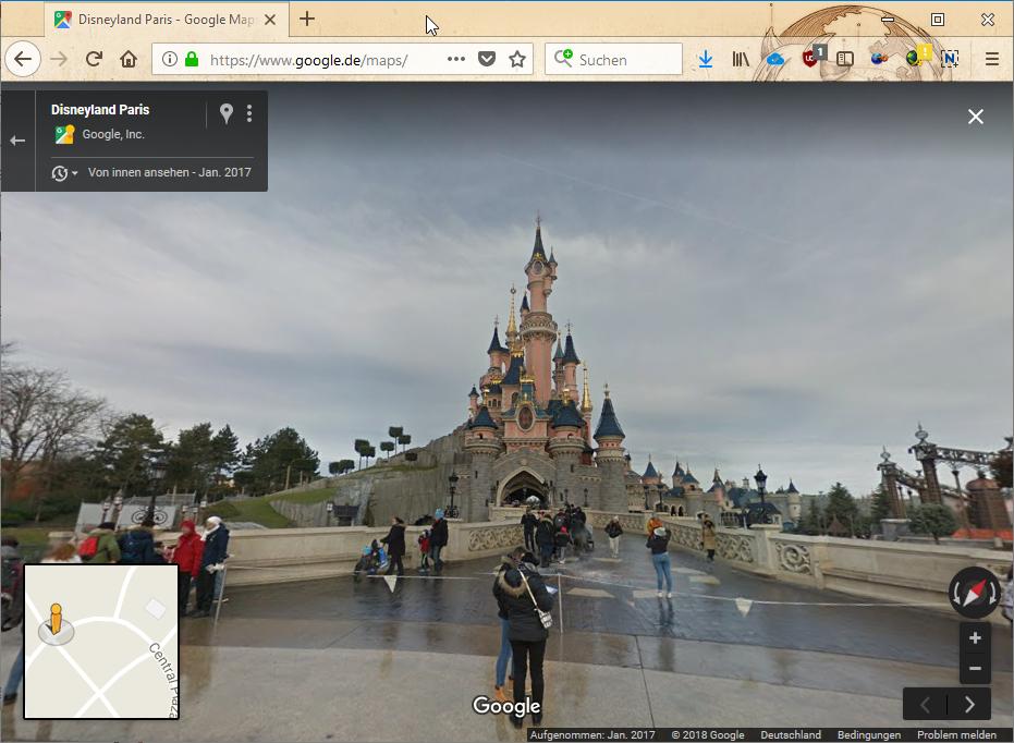 Disneyland mit Google Maps Streetview erkunden